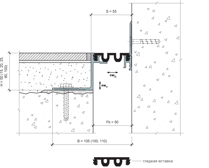 MANGRA 4320-050, h = 50 мм, Угол