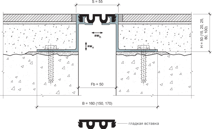 MANGRA 4320-050, h = 50 мм