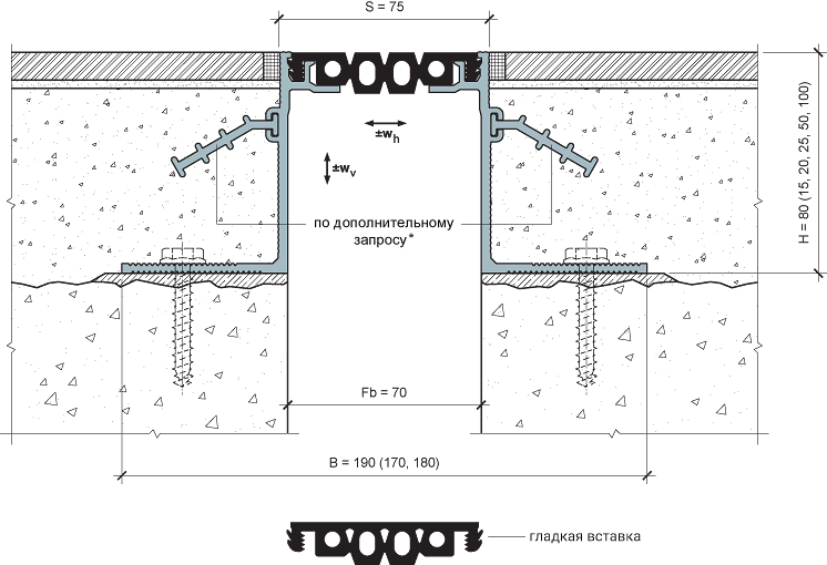 MANGRA 4320-070, h = 80 мм