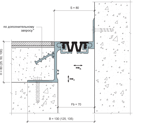 MANGRA 4520-065, h = 80 мм, Угол