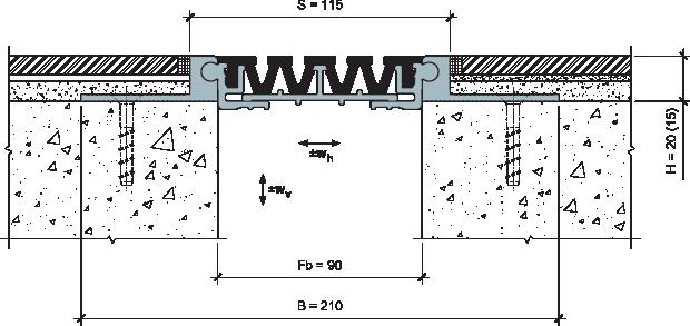 MANGRA 4520-090, h = 20 мм