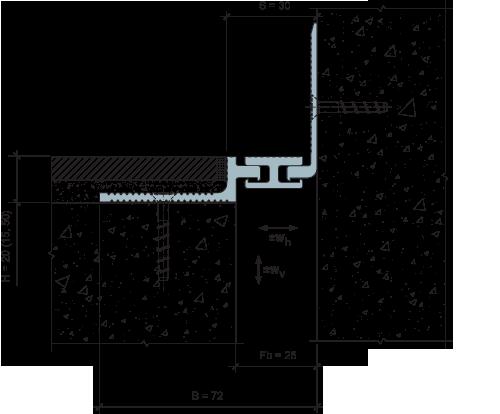 MANGRA 5020-030, h = 20 мм, Угол