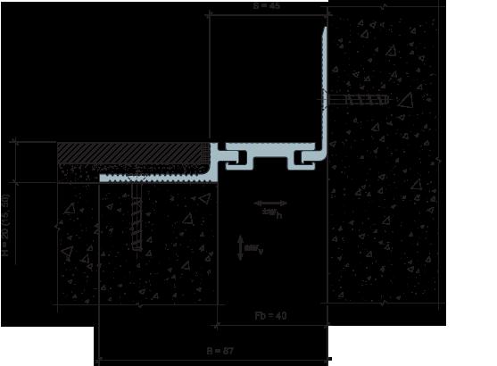 MANGRA 5020-045, h = 20 мм, Угол