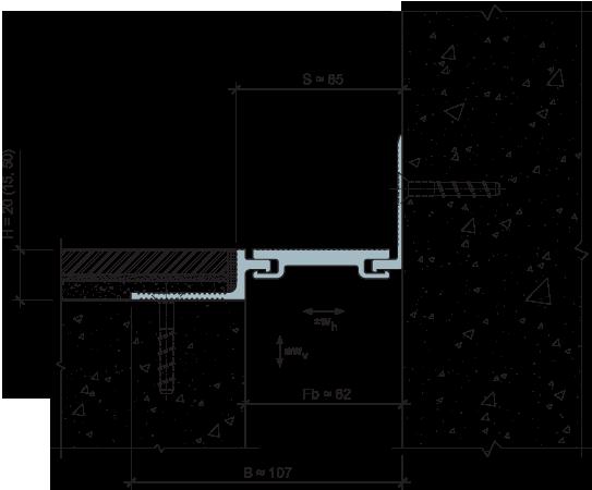 MANGRA 5020-060, h = 20 мм, Угол