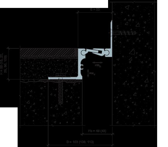 MANGRA 5320-030, h = 50 мм, Угол