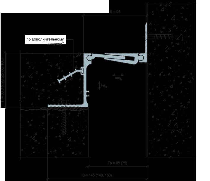 MANGRA 5320-070, h = 80 мм, Угол