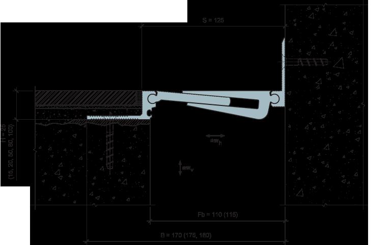 MANGRA 5320-100, h = 25 мм, Угол