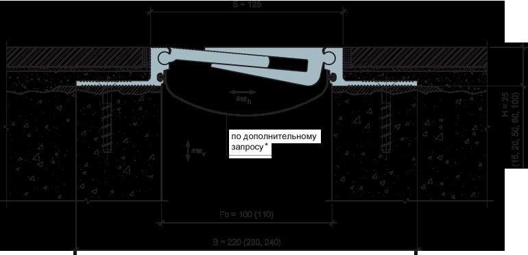MANGRA 5320-100, h = 25 мм