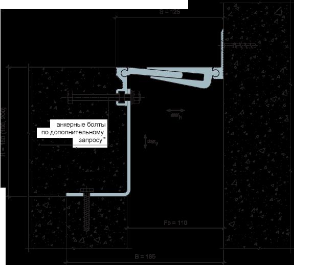 MANGRA 5370-100, h = 150 мм, Угол