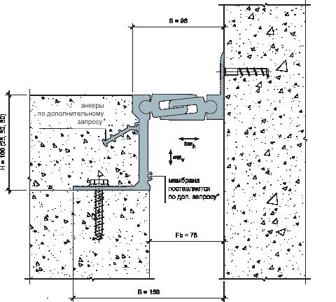 MANGRA 5720-075, h = 100 мм, Угол