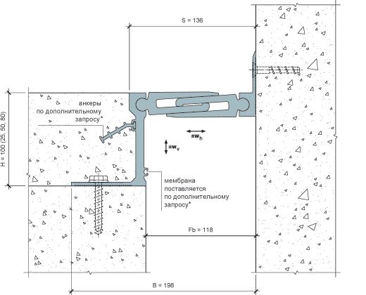 MANGRA 5720-100, h = 100 мм, Угол