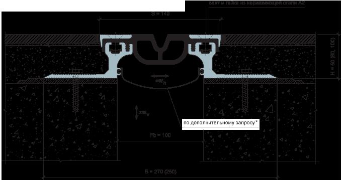 MANGRA 6250-100, h = 50 мм