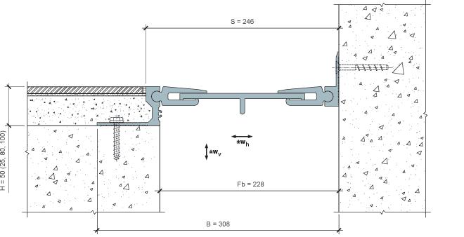 MANGRA 8520-210, h = 50 мм, Угол