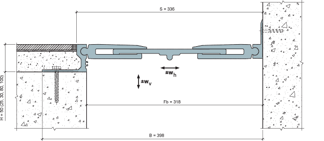 MANGRA 8520-300, h = 50 мм, Угол