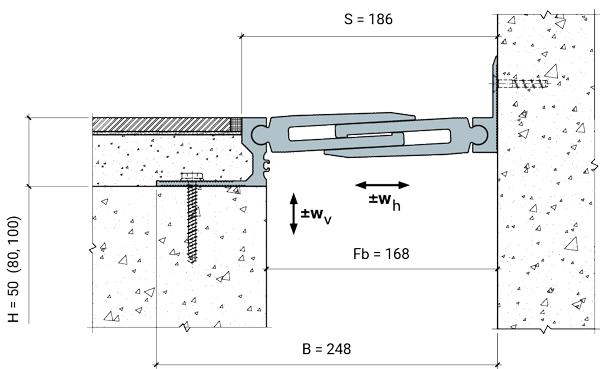 MANGRA 8720-150, h = 50 мм, Угол