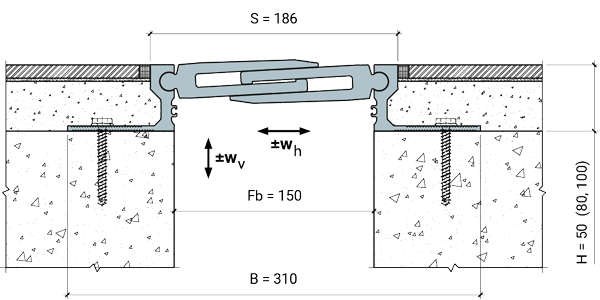 MANGRA 8720-150, h = 50 мм