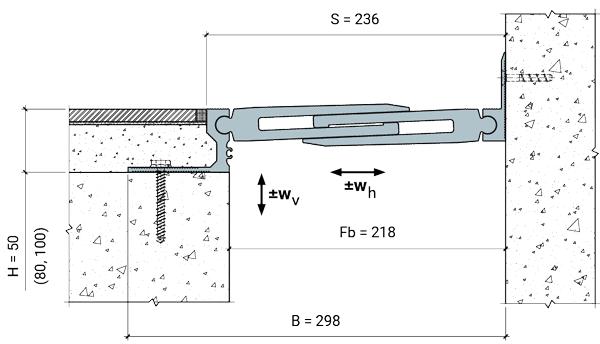 MANGRA 8720-200, h = 50 мм, Угол